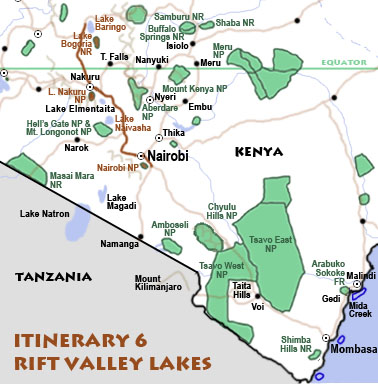 Itinerary 6: Rift Valley lakes
